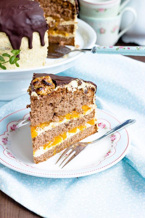 Kaffee-Walnuss Torte mit Mandarinen 4
