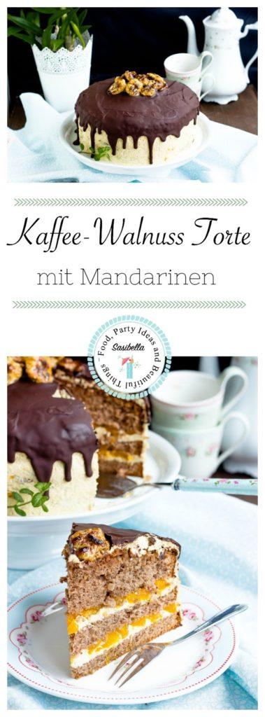 Kaffee-Walnuss Torte mit Mandarinen 9