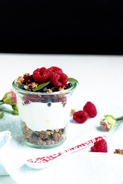 Vanille-Kokos-Granola mit griechischem Joghurt und Früchten - Mein Frühstücksglück 22