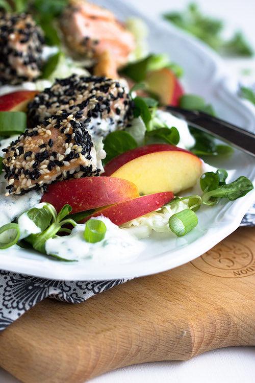 Sesam-Lachs auf Wintersalat 20