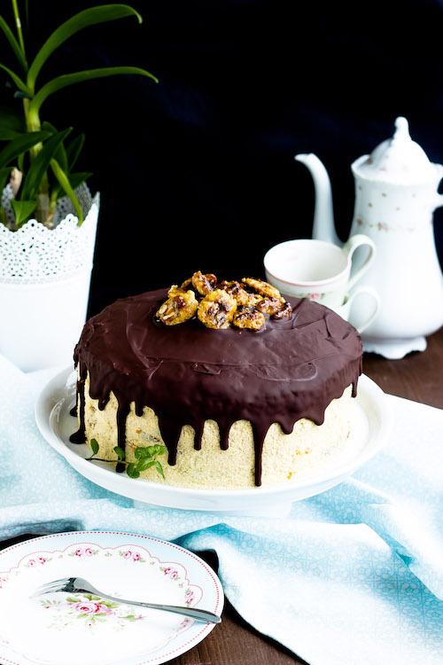 Kaffee-Walnuss Torte mit Mandarinen 8