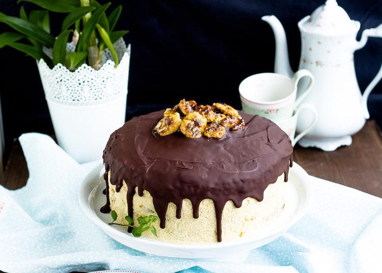 Kaffee-Walnuss Torte mit Mandarinen 1