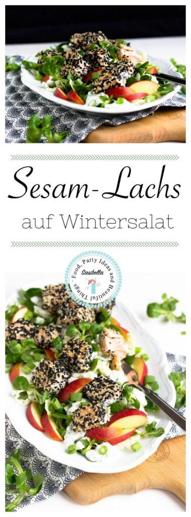 Sesam-Lachs auf Wintersalat 27