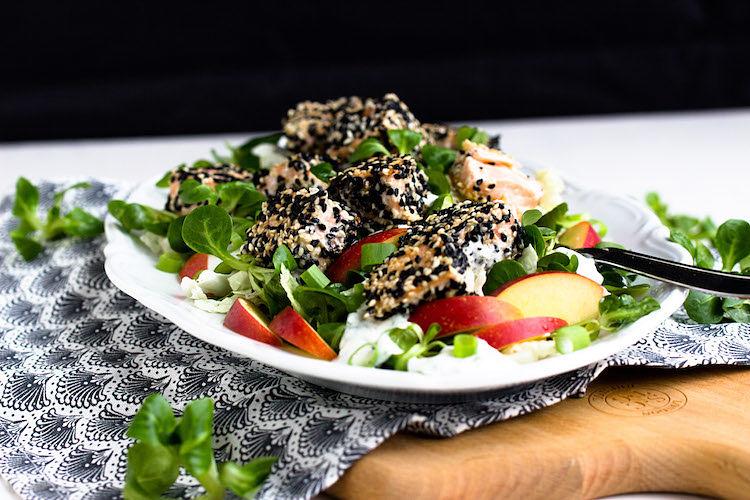 Sesam-Lachs auf Wintersalat 26