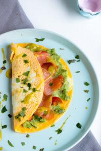 LowCarb Eier-Wrap mit Avocado und Lachs / Mein Frühstücksglück