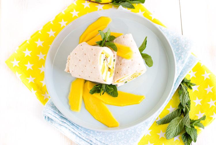 Mango-Mozzarella Wrap mit Minze
