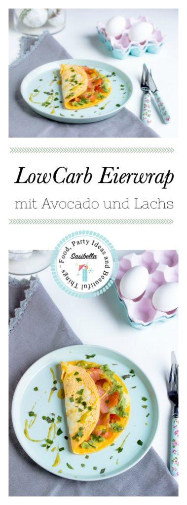 LowCarb Eier-Wrap mit Avocado und Lachs / Mein Frühstücksglück 1