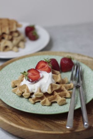 Vollkorn-Kokoswaffeln / Mein Frühstücksglück