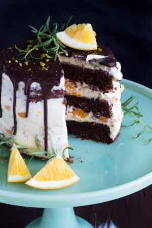 Rosmarin-Orangen Torte