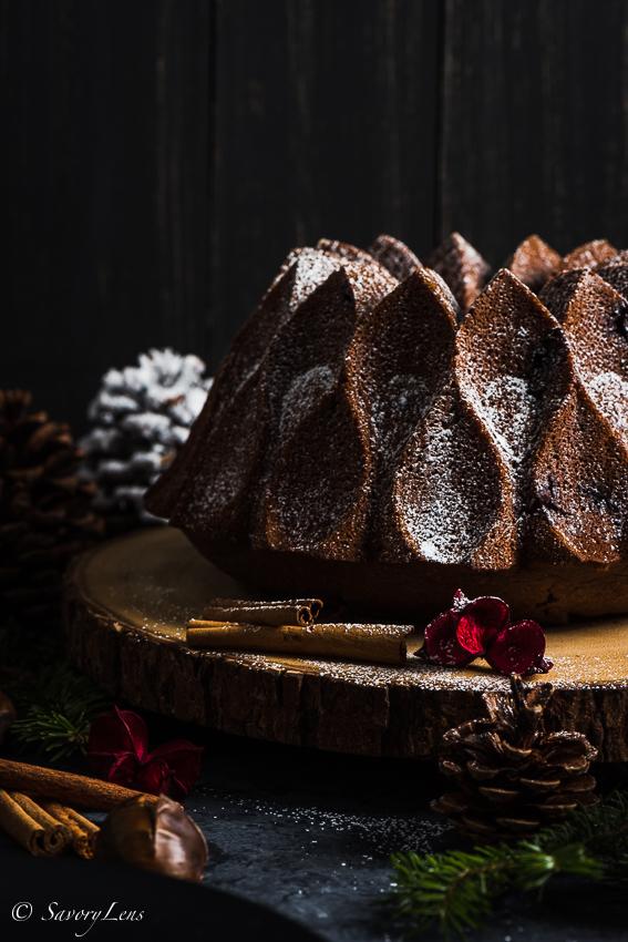 Maronen Schokoladen Kuchen / Bundt Cake