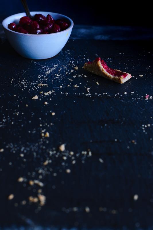Weihnachtliche Cranberry Apfelmus Tarte