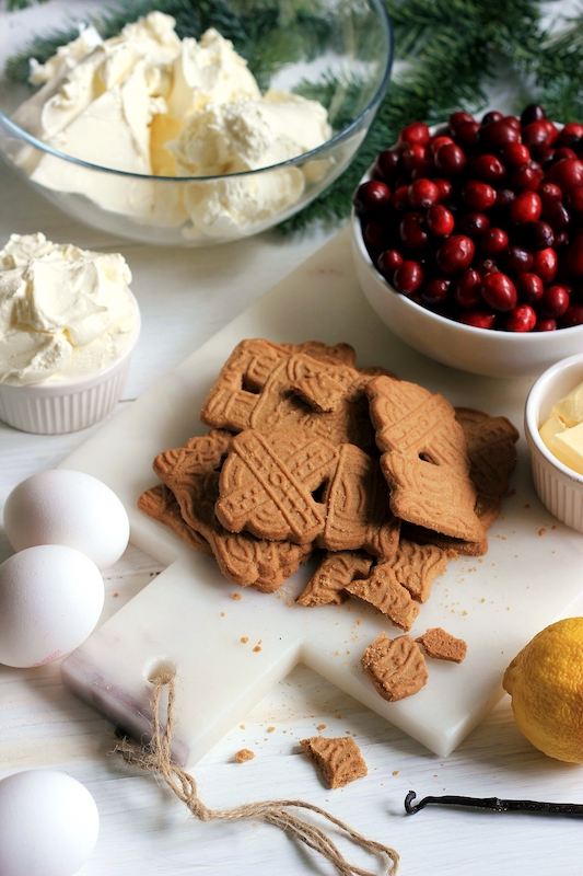 Cranberry Cheesecake mit Karamelsauce 2