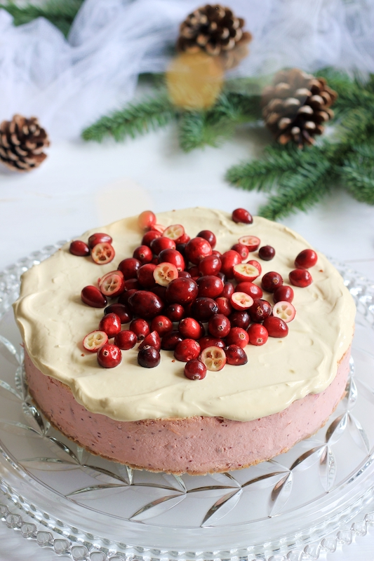 Cranberry Cheesecake mit Karamelsauce 1
