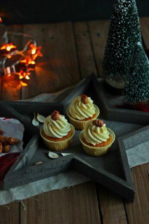 Gebrannte Mandel Cupcakes