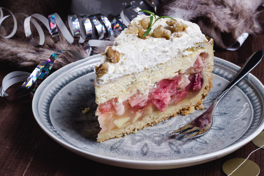 Apfel-Thymian Torte mit Prosecco
