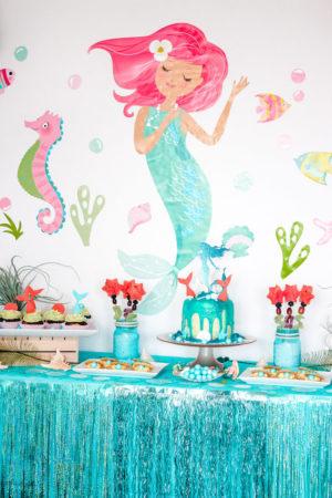 Meerjungfrau Kindergeburtstag