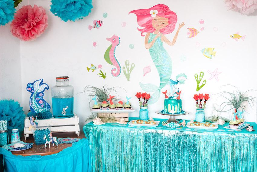Meerjungfrau Kindergeburtstag- Deko,Spiele,Rezepte 1