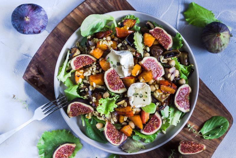 Ebly Salat mit herbstlichem Ofengemüse