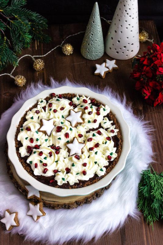 Schokoladen-Spekulatiustarte mit Glühweinkischen / 5. Foodblogger Adventskalender 2