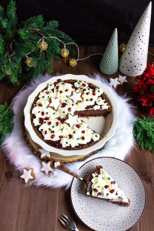 Schokoladen-Spekulatiustarte mit Glühweinkischen / 5. Foodblogger Adventskalender 5
