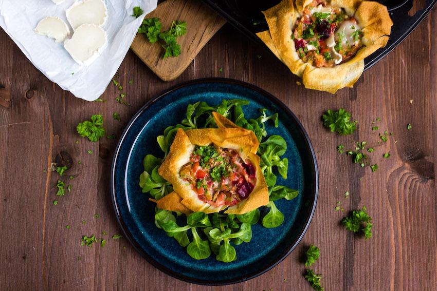 Filoteig Muffins mit Spitzkohl und Rote Bete 4