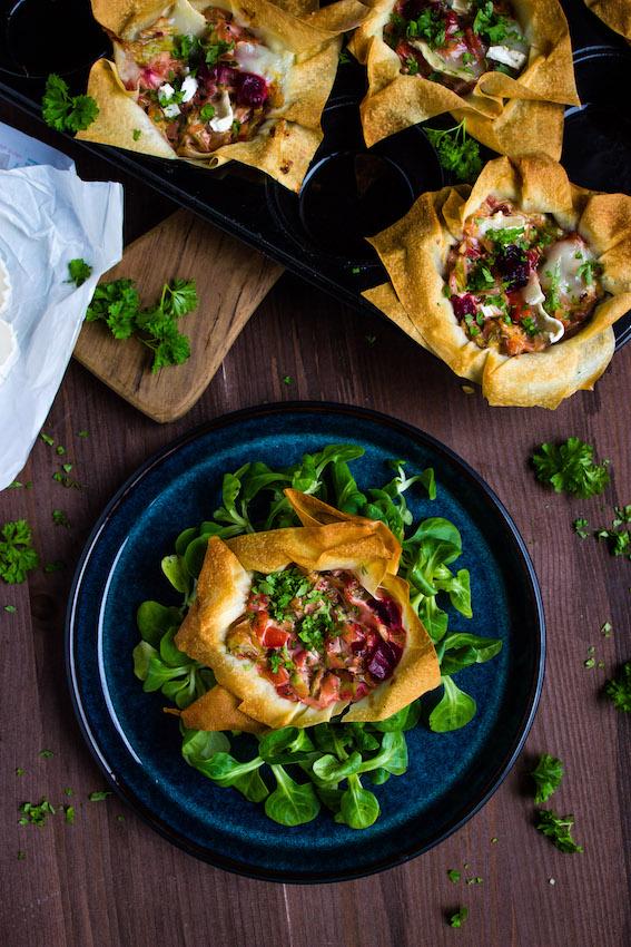 Filoteig Muffins mit Spitzkohl und Rote Bete 1