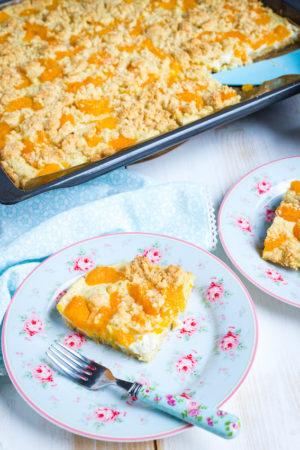 Quark Streuselkuchen mit Mandarinen