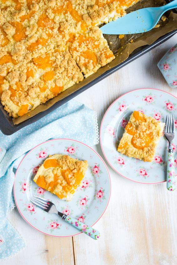 Omas einfacher Quark Streuselkuchen mit Mandarinen - Sasibella