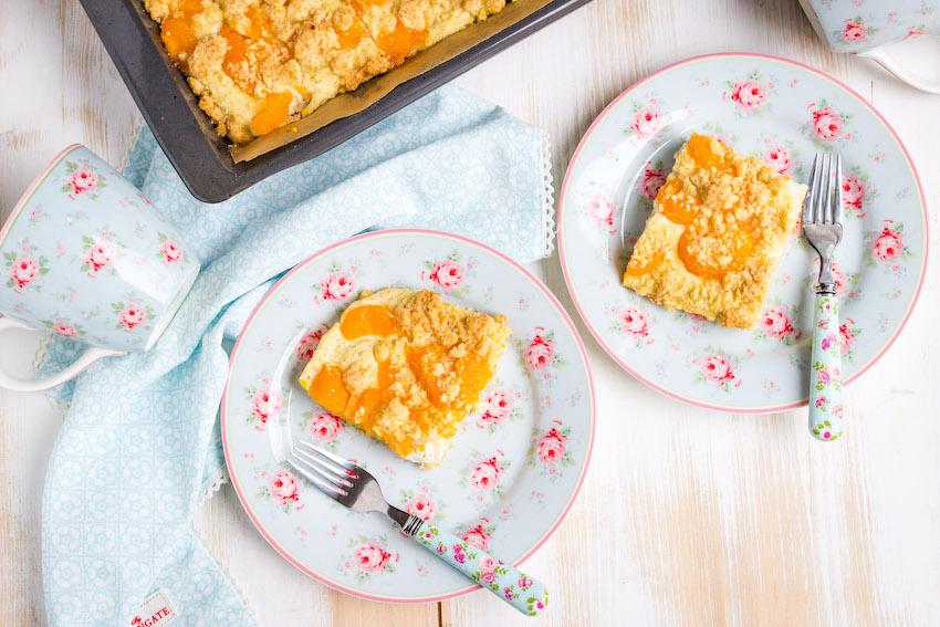 Omas einfacher Quark Streuselkuchen mit Mandarinen 2