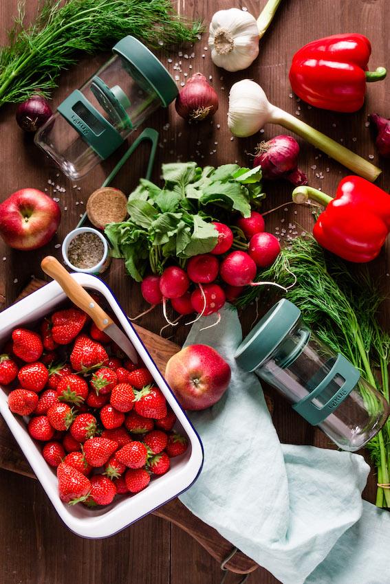 Fermentation von Obst und Gemüse