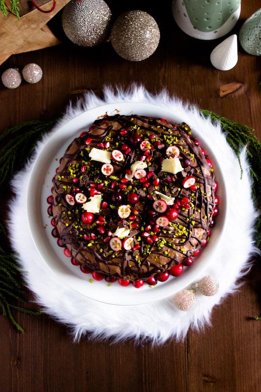 Nougat-Granatapfel Torte zu Weihnachten 1