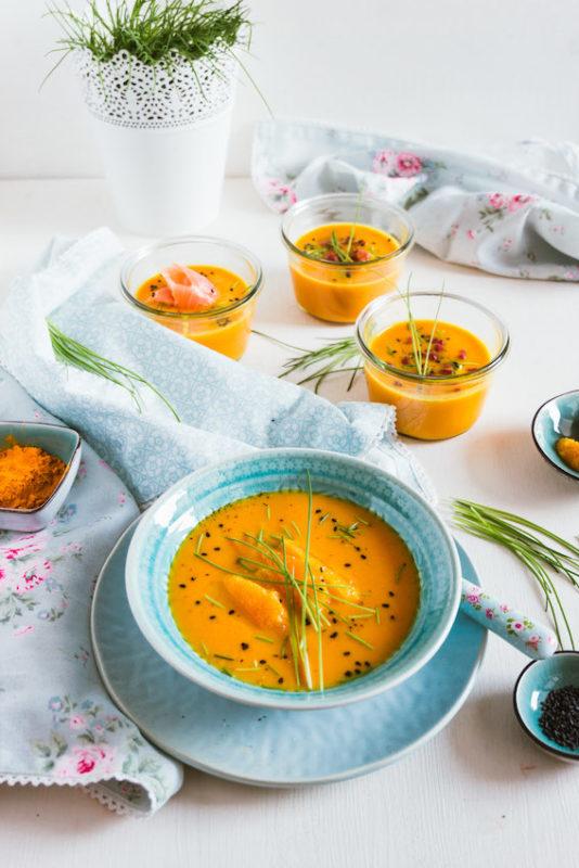 Aromatische Möhren-Orangen Suppe mit 4 Toppings 7